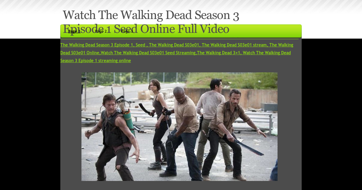 The walking dead season 3 full episode 2 online - Abro